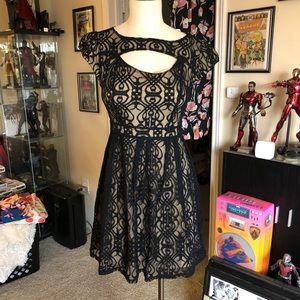 Pinky brand cute stretchy lace skater dress NWT